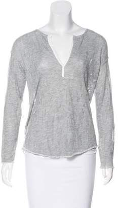 Raquel Allegra Long Sleeve Distressed Top