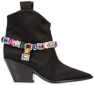 Casadei embellished cowboy-style boots