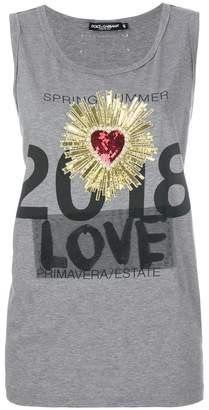 Dolce & Gabbana heart crest vest top