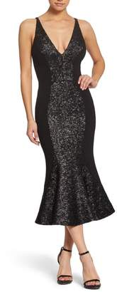 Dress the Population Embellished Midi Dress