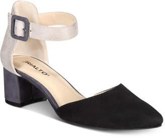 Rialto Mayer Block Heel Pointed Toe Pumps Women's Shoes
