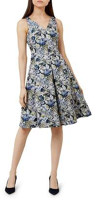 Hobbs London Royal Chrysanthemum Fit-and-Flare Dress