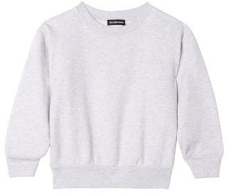 Balenciaga Kids - Logo Embroidered Cotton Blend Sweatshirt - Light Grey