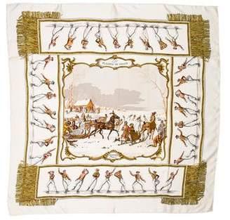 Hermes Les Plaisirs Du Froid Silk Scarf