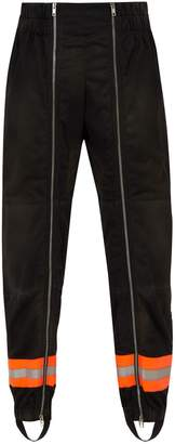 Calvin Klein Reflective-trimmed jersey trousers