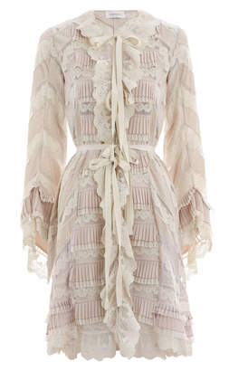 Zimmermann Tempest Pleat Lace Robe