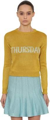 Alberta Ferretti Thursday Lurex Knit Sweater