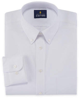 STAFFORD Stafford Travel Wrinkle-Free Stretch Oxford Long-Sleeve Dress Shirt - Big and Tall