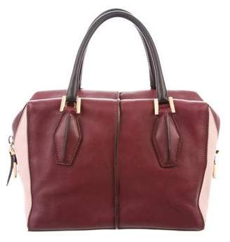 Tod's D-Styling Leather Colorblock Handle Bag