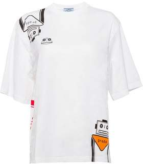 Prada Jersey T-Shirt With Tricks Print
