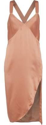Michelle Mason Silk-Charmeuse Slip Dress