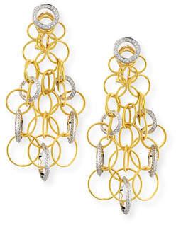 Buccellati 18K Gold Hawaii Circle Earrings with Diamonds