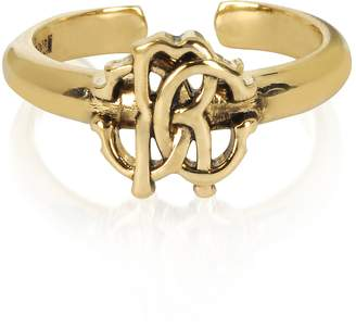 Roberto Cavalli Polished Goldtone RC Icon Ring