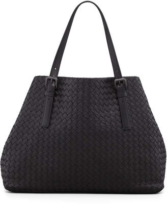 Bottega Veneta Large Double-Strap A-Shape Tote Bag, Black