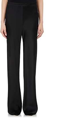The Row Women's Satin Gala Wide-Leg Pants - Black