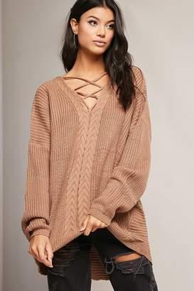 Forever 21 Oversized Crisscross-Front Sweater