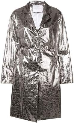Fabiana Filippi metallic trench coat