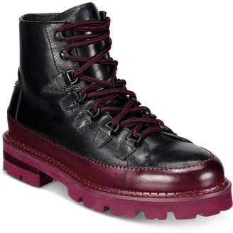 Roberto Cavalli Men Chunk Heel Lace-Up Boots Men Shoes