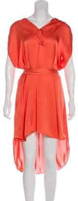 L'Agence Satin Belted Dress