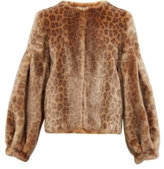 Shrimps Fergal Leopard Print Faux Fur Jacket - Womens - Leopard
