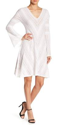 BCBGMAXAZRIA Bell Sleeve Laced Dress
