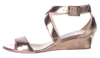 Jimmy Choo Chiara Metallic Leather Sandals