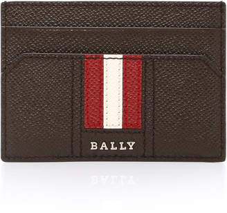 Bally Brown Money Clip Card Holder