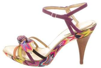 Missoni Chevron Multistrap Sandals