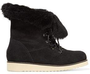 Australia Luxe Collective Yael Shearling-Lined Suede Boots