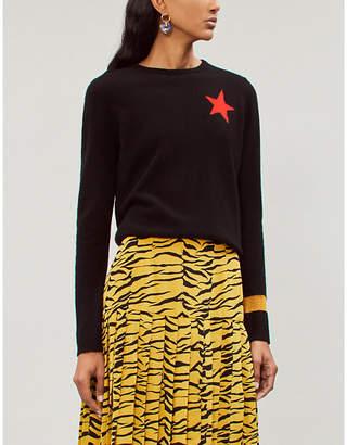 Bella Freud Billie star instarsia knit cashmere jumper