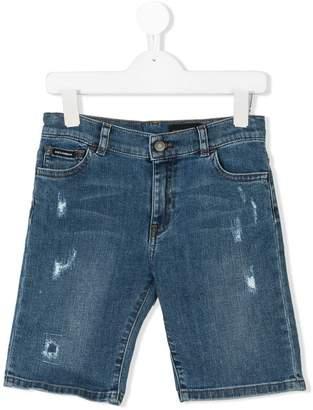 Dolce & Gabbana five pocket denim shorts