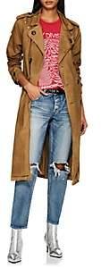 NSF Women's Dorian Paint-Splattered Cotton Trench Coat - Beige, Tan