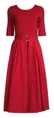 Max Mara Affine Belted A-Line Dress