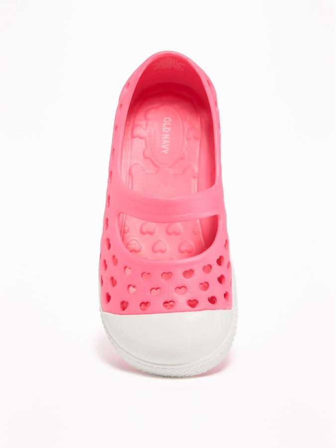 Perforated Pop-Color Slip-Ons for Toddler Girls 6