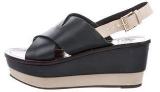 Tory Burch Crossover Platform Sandals