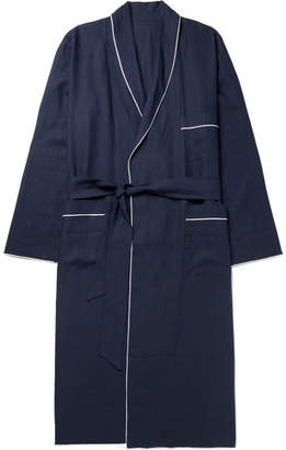 Anderson & Sheppard Piped Linen Robe