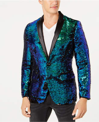 INC International Concepts I.n.c. Men's Slim-Fit Reversible Sequined Blazer