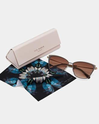 Ted Baker DANIELE Oversized metal sunglasses