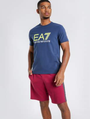 Emporio Armani Ea7 Train Logo Series T-Shirt in Navy Fluro Green
