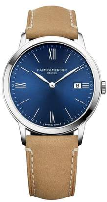 BAUME AND MERCIER Baume & Mercier Classima Leather Strap Watch, 40mm