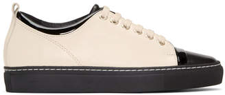 Lanvin Black and Ivory Leather Sneakers