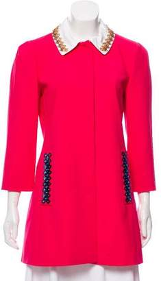 Mary Katrantzou Mason Wool Coat w/ Tags