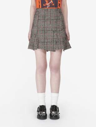 McQ Prince of Wales Mini Skirt