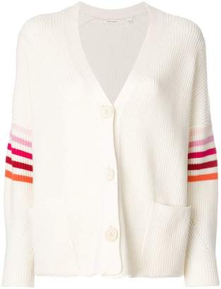 Parker Chinti & striped sleeve cardigan
