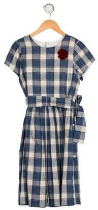 Isabel Garreton Girls' Gingham Print Dress