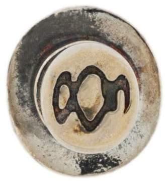 Yohji Yamamoto engraved stud earring