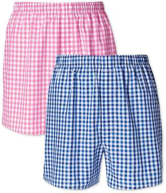 Charles Tyrwhitt Pink and Blue Gingham 2 Pack Boxers Size XS