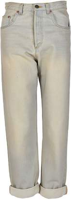 Gucci Bleach Wash Logo Straight Leg Jeans