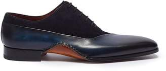 Magnanni Suede and leather patchwork Oxfords