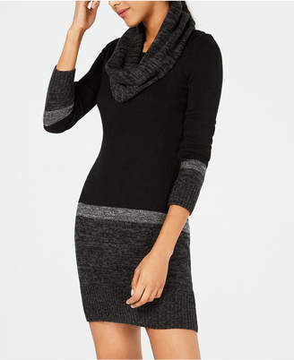 BCX Juniors' Scarf & Colorblocked Sweater Dress